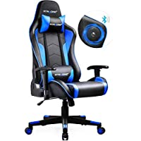 GTRACING Gaming Chair with Speakers Bluetooth Music Video Game Chair Audio Heavy Duty Computer Desk Chair GT890M 【1 Year Warranty】