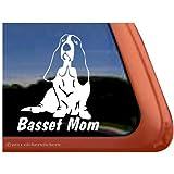 Basset Hound Mom Dog Vinyl Window Auto Decal Sticker