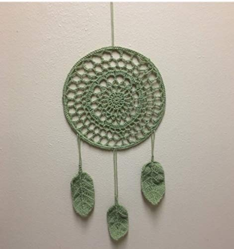 Amazoncom Green Crochet Dreamcatcher Handmade