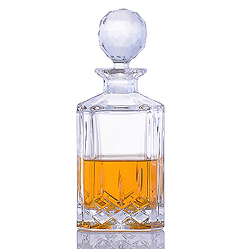 Cut Crystal Whiskey Liquor Decanter by Crystalize (1 piece)