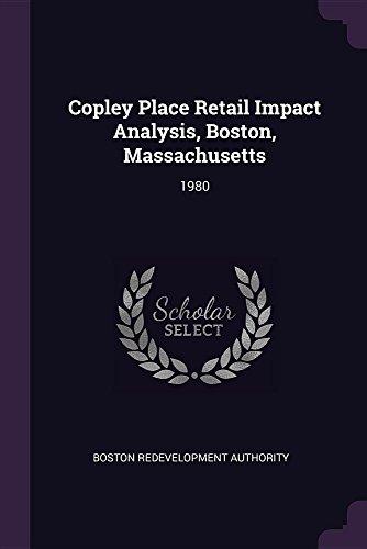 Copley Place Retail Impact Analysis, Boston, Massachusetts: 1980 (Boston Copley Place)