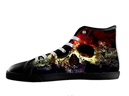 POP Creation Women's Red And Black Sugar Skull High Top Shoes US 10
