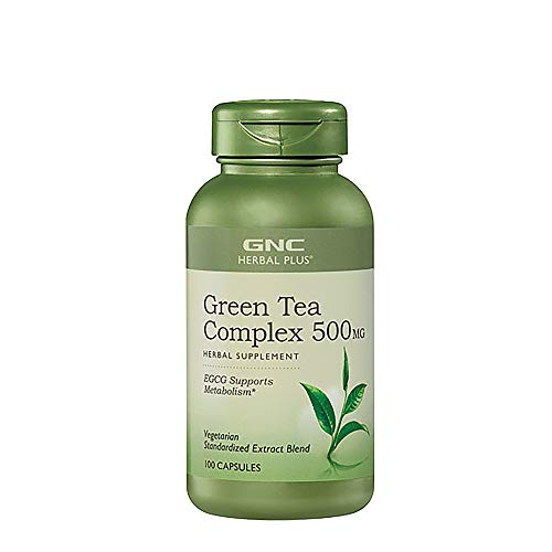 GNC Herbal Plus Green Tea Complex 500mg California Only, 100 Capsules, Supports Metabolism (Green Tea Extract Gnc)