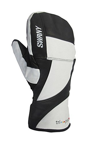SWANY Women`s Black Hawk Under Mittens, S, WHITE/BLACK by Swany