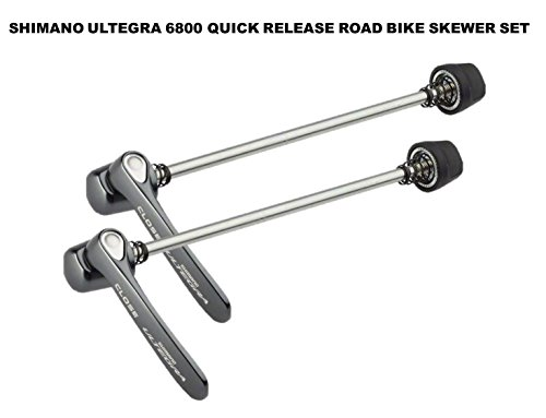 (SHIMANO Ultegra 6800 Quick Release Road Bike Skewer Set, Dark Gray)
