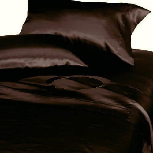 - Mk Collection 2pc Soft Silky Satin Solid Brown/Coffee Standard/Queen Pillow Cases Set New