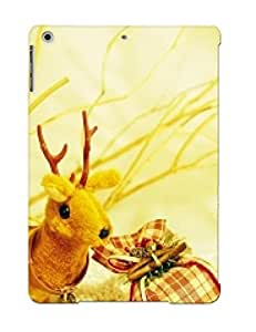 Awesome Golden Design Toy Reindeer Hard Gift Case Cover For Ipad Air(gift For Lovers)
