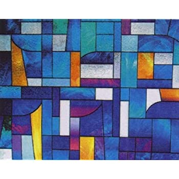 Abstract Stained Glass Decorative Privacym Window Film 36 Wide X 27 Long