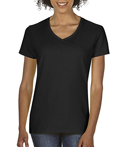 Gildan Women's Softstyle V-Neck T-Shirt - X-Large - Black ()