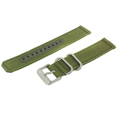 Seiko Military Automatic Olive Green Nylon 18mm Watch Strap