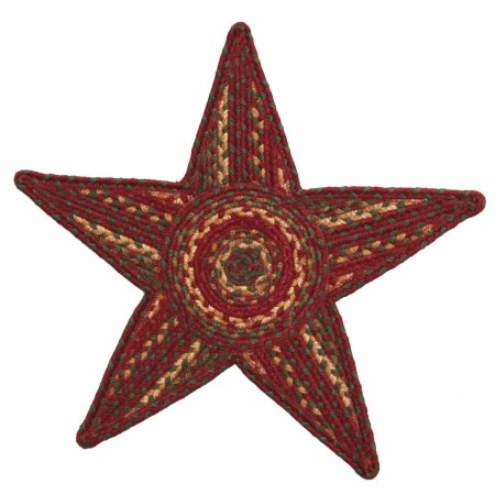 Homespice Star Trivet Jute Braided Rugs, 20-Inch by 20-Inch, Cider Barn