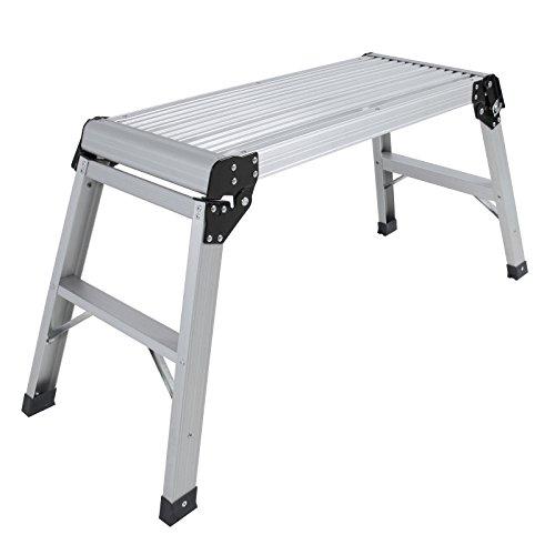 Stool Ladder Folding Work Bench Aluminum Body Folding Platform Grab Multi Purpose Accessory Ladder Good Helper Decorating your House
