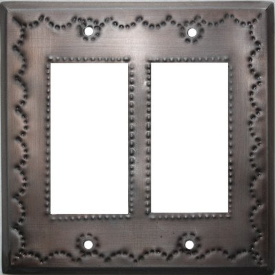 Double Decora Antique Tin Switchplate by Fine Crafts & Imports