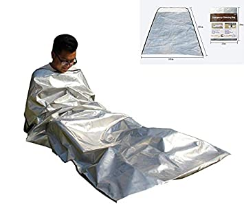 7ce03c43326 DUBAOBAO Emergency Bivvy Bag-Living Sleeping Bag-Bushcraft-Thermal  Reflective Survival Sleeping Bag Outdoor Camping And Hiking: Amazon.co.uk:  Sports & ...