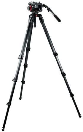 Manfrotto 504HD,536K Video Tripod Kit with 504HD Head and 536 Carbon Fiber Tripod (Black)