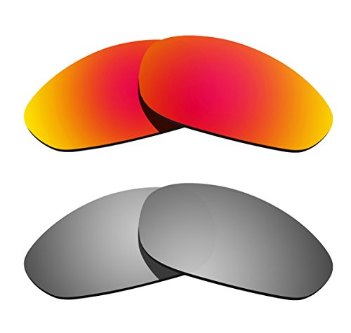 Littlebird4 2 Pairs Polarized Replacement Sunglasses Lenses for Oakley Straight Jacket, UV Protection-Multiple Options - Sunglasses Order Mass