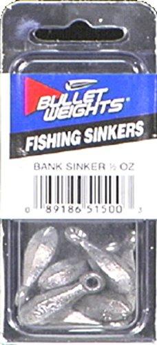 Bullet Weights Bank Sinker (7 Piece), 1/2 oz