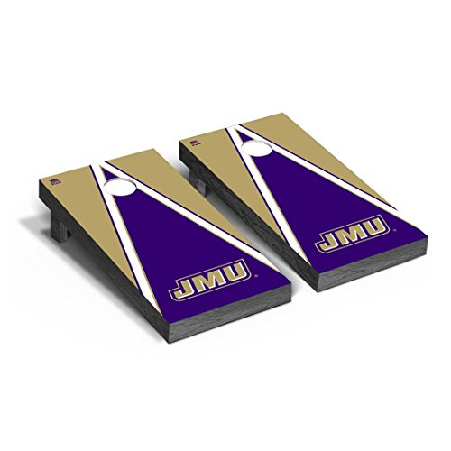 - Victory Tailgate James Madison JMU Dukes Regulation Cornhole Game Set Triangle Version