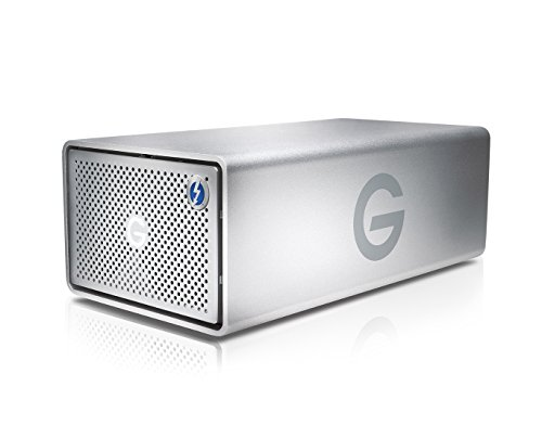 G-Technology 16TB G-RAID with Thunderbolt 3, USB-C (USB 3.1 Gen 2), and HDMI, Removable Dual Drive Storage System, Silver - 0G05758