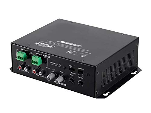 (Open Box) Monoprice Commercial Audio 120W 2ch Mixer Amp (No Logo)