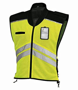 91-1205 Vega  Helmet High Visability Yellow Safety Vest Yellow, Small to Large