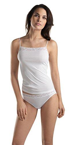 HANRO Women's Moments Cami,White,X-Small (Hanro Camisole Cotton)