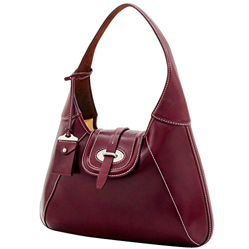 Bag Shoulder Bordeaux amp; Hobo Dooney Bourke Stitch Front Florentine Toscana zU8n0q