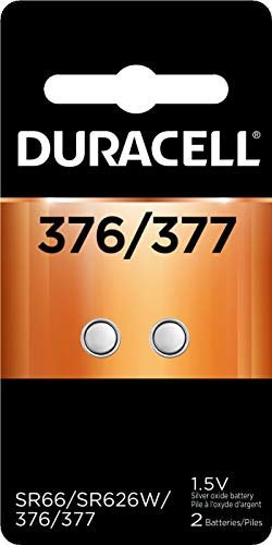 Duracell - 376/377 1.5V Silver Oxide Button Battery - long-lasting battery - 2 count 1.5v Watch Replacement Battery