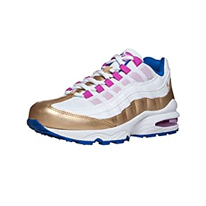 Best Epic Trends 41-zyr9J6CL._SS300_ Nike Air Max '95 LE GS White/Racer Blue/Fuchsia Blast/Metallic Gold 310830-120 (Size: