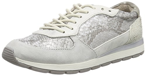 Jana 23601, Women's Low-Top Sneakers Silver - Silber (Silver Comb 913)