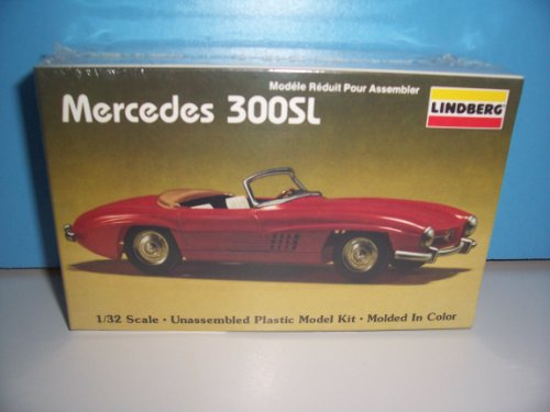 Mercedes Sl Model - #70610 Lindberg Mercedes 300 SL 1/32 Scale Plastic Model Kit,Needs Assembly