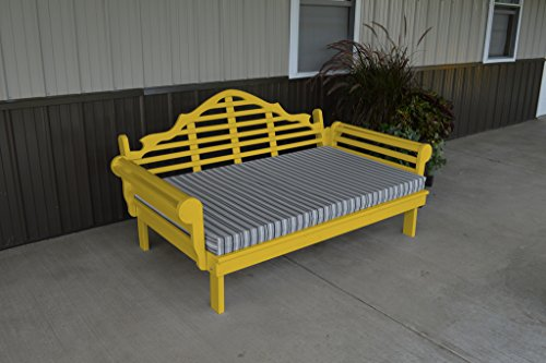 Furniture Barn USA 75 Inch Pine Indoor or Outdoor Marlboro Daybed Amish Made- Canary Yellow Paint ()