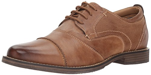 Steve Madden Men's Pinsen Oxford, Camel Leather, ...