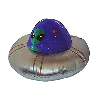 RDC Animated Over The Moon UFO Spaceship Alien Plush Spins Lights Up Sound (Spaceship): Toys & Games