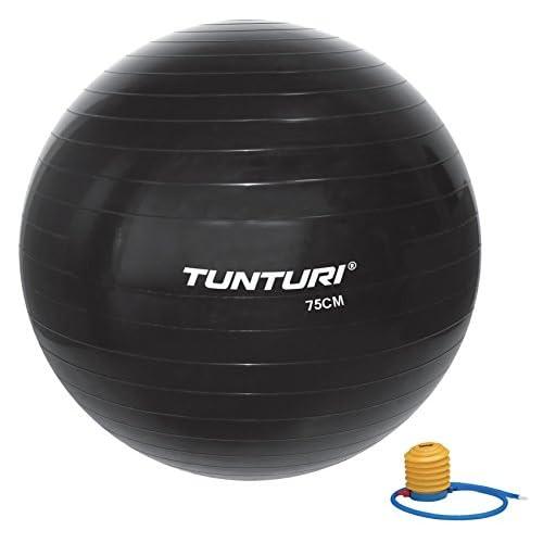 Tunturi 14TUSFU285 Ballon de Gym Mixte Enfant, Noir, Taille Unique
