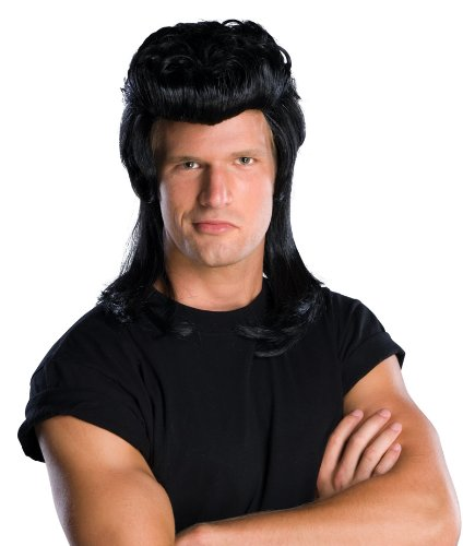Rubie's Costume Pompadour Wig Black One Size Rubies Costumes - Apparel 51844