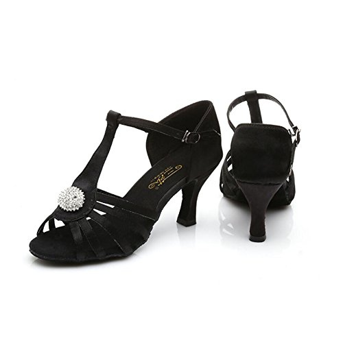 37 Schuhe Glitter B Schuhe Flared XUE Sekt Latin Damen Fersen B Größe Strass Farbe Performance Glitter Professional Sandale Ballroom Heel Funkelnde Swwx1n