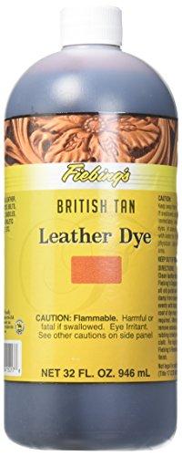 Fiebing's FILDYE17P032Z Leather Dye - British Tan, 32 oz