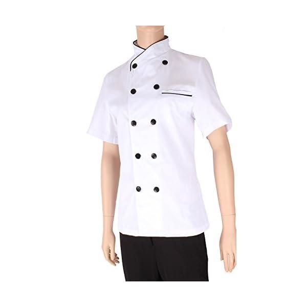MISEMIYA - Chaquetas Chef Uniforme COCINERA MARMINTÓN SOLLASTRE GUISANDERO ADOBADOR Salsero- Ref.8441 4