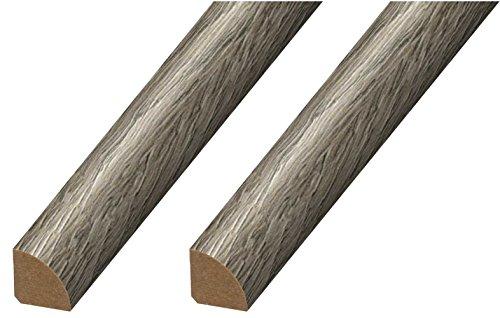 (CalFlor MD20072 Quarter Round Floor Molding, 2 Pack, Polar Gray, 2 Each)