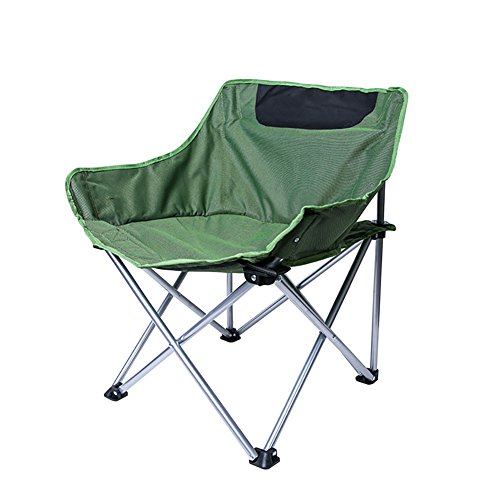 - ZXL Camping Chair Outdoor Festivals Garden Caravan Trips Fishing Beach BBQ Portable Beach Folding Chair (Color : Green)