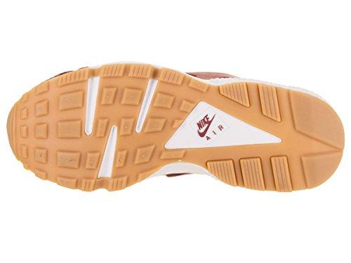 NIKE Womens Air Huarache Run SE Cedar/Cedar Gum Yellow White Running Shoe 7.5 Women US
