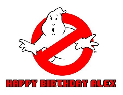 Ghostbusters Vintage Retro 80s Edible Image Photo Sugar Frosting Icing Cake Topper Sheet Personalized Custom Customized Birthday Party - 1/4 Sheet - 77205 for $<!--$7.39-->