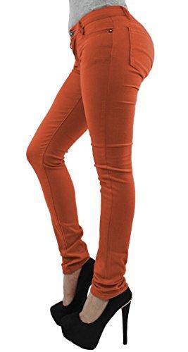 Skinny Da 36 54 Modello Taglia Leggins Donna Pantaloni Tipo Rust Jeans Elasticizzati A Znq011Bw