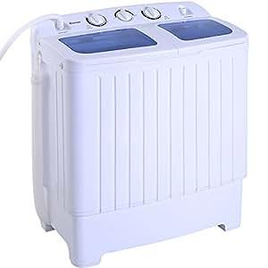 Giantex Portable Mini Compact Twin Tub 16lbs Washing Machine Washer Spin Cycle