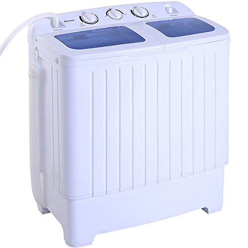 Giantex Portable Mini Compact Twin Tub 17.6lbs Washing Machine Washer Spin Cycle (Machine Laundry)