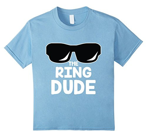 unisex-child The Ring Dude T-Shirt | Cute Boys Wedding Ring Bearer Tee 6 Baby - At Wedding Sunglasses