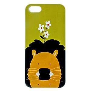 Bkjhkjy Lion Pattern Hard Case for iPhone 5/5S