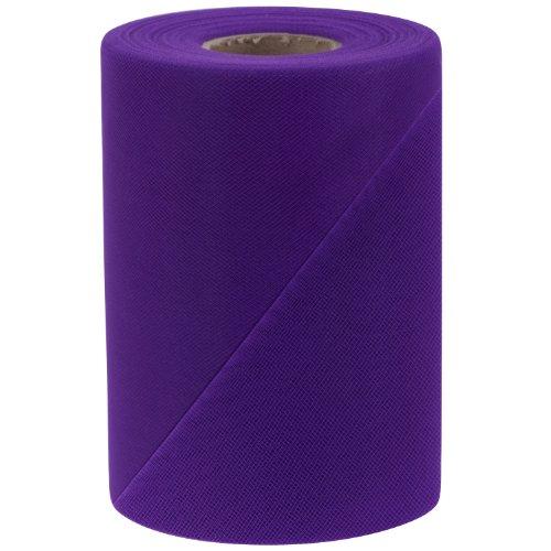Falk Fabrics Tulle Spool, 6-Inch by 100-Yard, Purple -