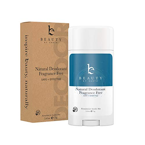 Natural Deodorant Unscented - Organic Deodorant for Women, Aluminum Free All Natural Deodorants for Women and Mens Deodorant, Vegan Womens Deodorant Sensitive Skin, Travel Deodorant, 2.65oz Tube from Beauty by Earth